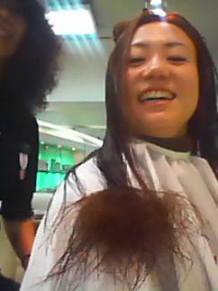 髪切り中☆