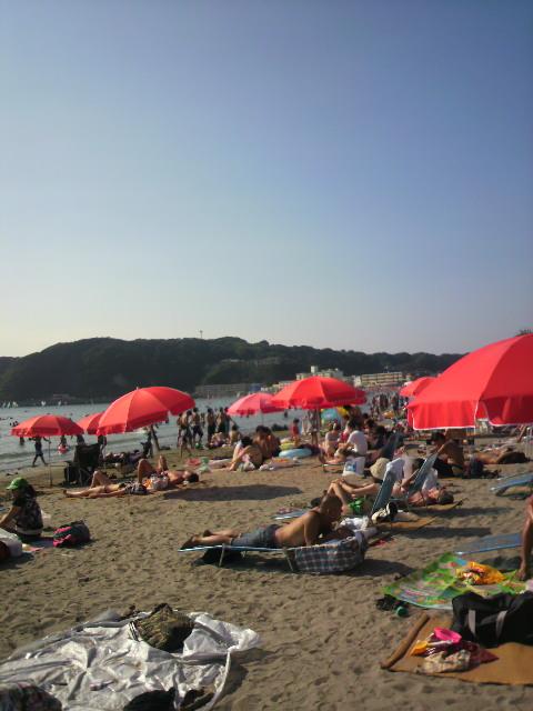 逗子海岸でライブです